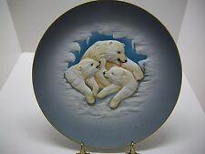 "Gunther Granget / 1977 Plate / Polar Bear / No Box / 10""Dia /.Hutchreuther China"
