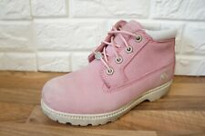 Timberland Size 4 Pink Waterproof Chukka Ankle Womens Ladies Boots