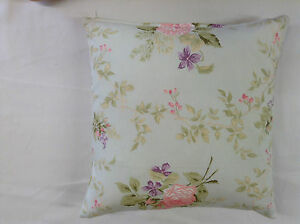 Amy Floral Duckegg Floral Cotton Both Sides  Cushion Cover