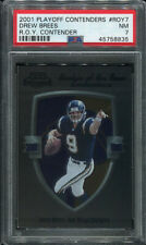 2001 PLAYOFF CONTENDERS R.O.Y. CONTENDER ROY7 DREW BREES ROOKIE PSA 7 (8835)