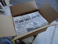 Case 100+ Titanic 1912 Sinking Boston Globe Newspaper 's Morning Evening Edition