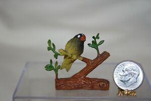 Miniature Dollhouse NEAT Vintage 1960s Bird on Branch Figurine 1:12 NR