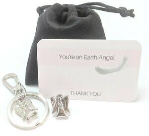 1 x Guardian Angel Pin & 1 x Guardian Angel Keyring Bagcharm in Pouch A01