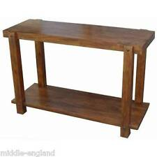 SIDE HALL CONSOLE TABLE 115CM ACACIA LISBON WOOD FURNITURE TELEVISION STAND NEW