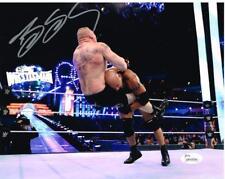 WWE WWF WCW BILL GOLDBERG VS LESNAR AUTOGRAPHED 8X10 PHOTO AUTOGRAPH AUTO JSA