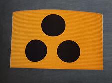 Blindenarmbinde für Sehbehinderte elastisch universal 5cm breit gelb schwarz NEU