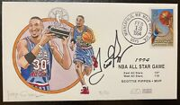 Scottie Pippen Signed Autograph Cachet Artist Signed 1994 All Star Game 5/50