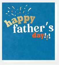 Happy Fathers Day Blue Greeting Card