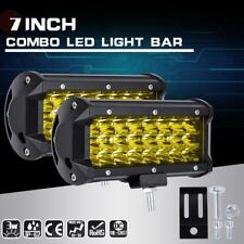 Applied 144W LED Light Bar Flood Spot Work Off Road Driving Lamp Yellow Cover BA