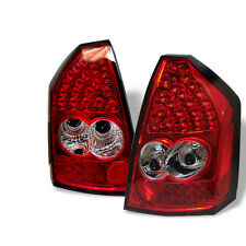 Pair Tail Lights Lamps For Chrysler 300 2005-2007 LED  Red Clear 1 yr Warranty