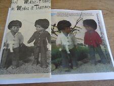 T11 PATRON POUPEE J.MICHEL & M. FRANCOISE MODES & TRAVAUX VESTE TRICOTEE 1976