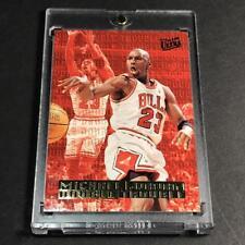 MICHAEL JORDAN 1995 FLEER ULTRA #3 DOUBLE TROUBLE GOLD FOIL INSERT CARD NBA MJ