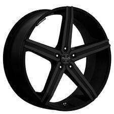 """4pcs 22"""" Versante Wheels VE228 Matte Black Rims and Tires PKG"""