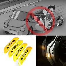 Super Yellow Car Door Open Sticker Reflective Tape Safety Warning Decal 4PCS