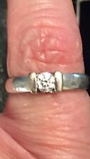 18ct White Gold & Diamond Ring Size I/J