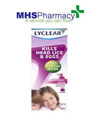 Lyclear kiils Head Lice and eggs [Treatment Spray