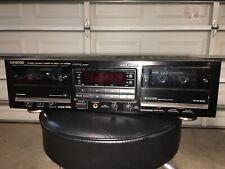Kenwood Kx-W8020 Dual Cassette Deck, High End. Auto Reverse, Test Works Great