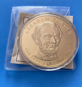 🌟American Mint Abraham Lincoln Presidential Dollar Trials 24K Gold Proof COIN