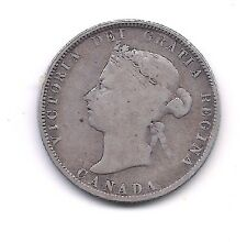 1874-H Canada Silver Twenty-five Cent --Strong Details!!