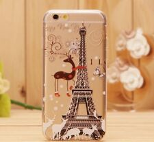 iPhone 6/6s (4'7)  carcasa dura rigida Transparente  Torre Paris Navidad Dibujos