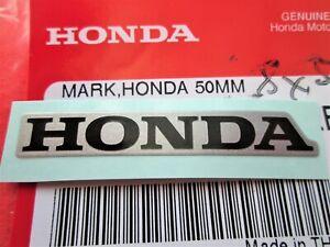 GENUINE HONDA STICKER 50mm SILVER & BLACK DECAL LOGO ****UK STOCK****
