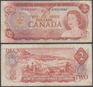 Canada - Elizabeth II, 2 Dollars, 1974, VF, P-86(b)