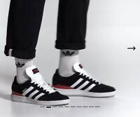 NEW Adidas Busenitz Pro Black/Red/White Skate Shoes Men's Size 10 FREE SHIP