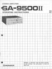 Pioneer SA-9500II Amplifier Owners Manual