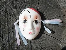 NUOVO Maschera Pierrot in porcellana da appendere 9