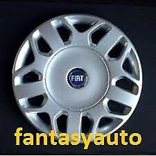 """Fiat Multipla Una Borchia Coppa Coppone Copri Cerchio 15"""" Logo Blu"""