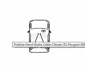 FKB1094 Brake Cable Rear BMW WSL 34411153582 34411158421 34411158423