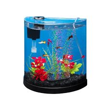 Tetra ColorFusion Starter Aquarium Kit 3 Gallons, Half-Moon Shape