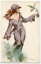 a/s. ROBERTO FRANZONI JOLIE FEMME. BEAUTIFUL LADY. CHARME. CHARM. OISEAU. BIRD.