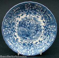 Royal Tudor Ware 17th Century England Blue Pattern Tea Saucer Only 14.5m in VGC