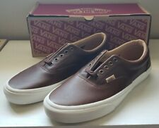 VANS Era ( Lux Leather ) Shaved Chocolate/Porcini Mens Size 9.5 VN-0A38FRQTT NEW