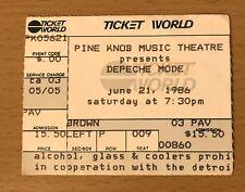 1986 Depeche Mode Black Celebration Tour Detroit Pine Knob Concert Ticket Stub P
