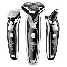 Hatteker Rasoir Hommes electrique USB Rechargeable 3 en 1 Rotatif Tondeuse Barbe