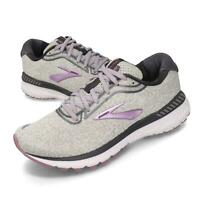 NIB WOMEN'S BROOKS 120296 030 ADRENALINE GTS 20  RUNNING GREY/PURPLE SHOES WIDE