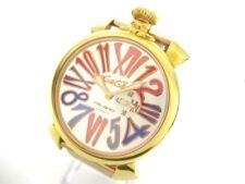 Auth GAGA MILANO Manuale 46 Silver NJ10969 Women's Wrist Watch