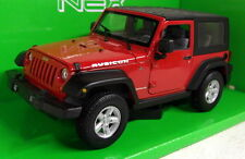 Welly 22489 Jeep Wrangler Rubicon Red 2007 Open Scale 1 24 Model Car