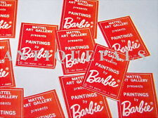 Midge Barbie Stacey Modern Art #1625 Red Program Repro Heavy Paper Stock