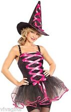 Ladies/Girls Hot Pink Wicked Ballerina Witch Costume Size 8/12 Halloween