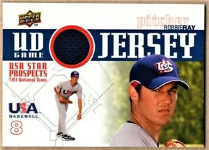 ROBBIE RAY - 2009 UPPER DECK USA BASEBALL STAR PROSPECTS GAME JERSEY RC