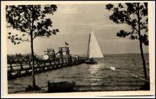 ARENDSEE Altmark 1957 DDR Postkarte Segelboot legt an alte Ansichtskarte
