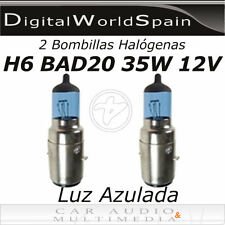 2 BOMBILLAS HALOGENAS H6  BAD20 35W 12V COCHE MOTO SCOOTER LUZ  AZULADA