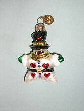 Radko Little Gem Hearts For You Snowman Christmas Ornament Pre - Owned No Box