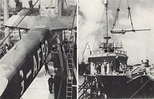 WWII German Large (9.25x7.25) Press Photo Image- US Lend Lease- Plane- Warship