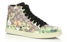 100% authentic GUCCI Blooms Print High-Top Sneakers  sz 9.5G (10.5US)