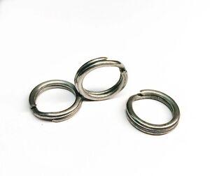ROSCO Stainless Steel Split Rings Size 10 (220# test) 17mm Fishing - 100 PACK