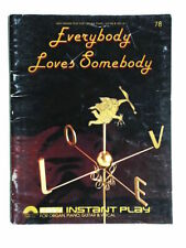 Everybody Loves Somebody Easy Instant Play Organ, Piano, Guitar 1983